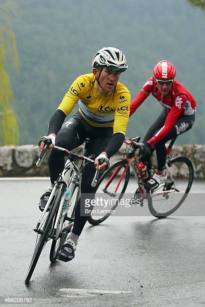 Michal Kwiatkowski of Poland and Etixx Quick Step in action on stage six of the 2015 ParisNice from Vence to Nice on March 14 2015 in Nice France