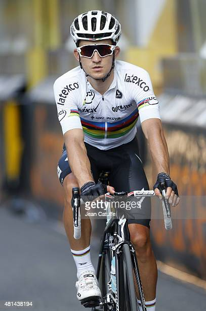 Michal Kwiatkowski of Poland and EtixxQuick Step crosses the finish line during stage sixteenth of the 2015 Tour de France a 201 km stage from Bourg...