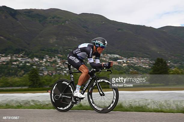Michal Kwiatkowski of Poland and Omega PharmaQuick Step on his way to victory during the 557km Prologue stage of the Tour de Romandie on April 29...
