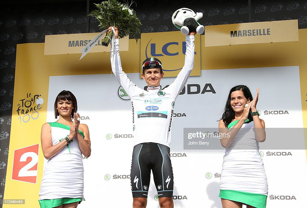Michal Kwiatkowski of Poland and Team Omega Pharma Quick-Step keeps the best younger's white jersey after Stage Five of the Tour de France 2013 - the 100th Tour de France -, a 228km road stage from Cagnes-sur-Mer to Marseille on July 3, 2013 in Marseille, France.