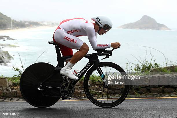 Michal Kwiatkowski of Poland competes in the Cycling Road Men's Individual Time Trial on Day 5 of the Rio 2016 Olympic Games at Pontal on August 10...