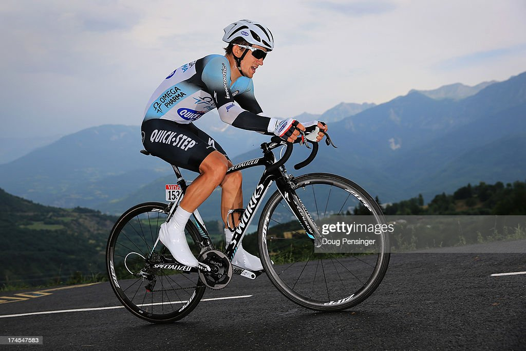 Michal Kwiatkowski of Poland riding for Omega Pharma-Quick Step competes during stage seventeen of the 2013 Tour de France, a 32KM Individual Time Trial from Embrun to Chorges, on July 17, 2013 in Chorges, France.