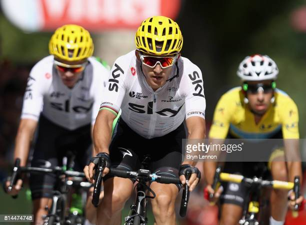 Michal Kwiatkowski of Poland riding for Team Sky crosses the line during stage 13 of the Le Tour de France 2017 a 101km stage from SaintGirons to...
