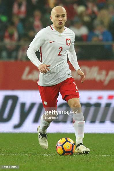 Michal Pazdan of Poland during the international friendly football match Poland vs Slovenia on November 14 2016 in Wroclaw