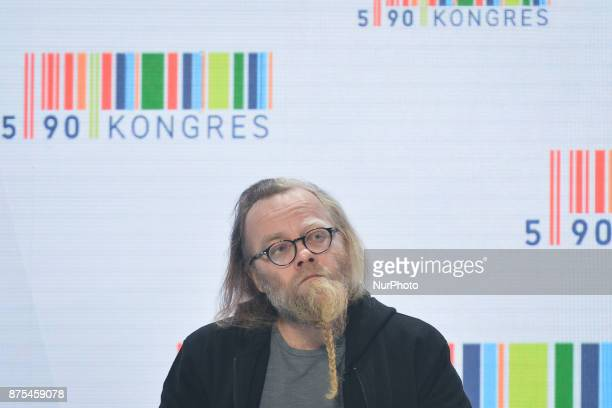 Michal Sapota President of Murapol SA a Polish developer company seen during a panel discussion about Polish Football during Congress 590 in the new...