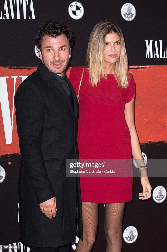 Michaël Youn and Isabelle Funaro attend the 'Malavita' premiere at Europacorp Cinemas at Aeroville Shopping Center, in Roissy-en-France, France.