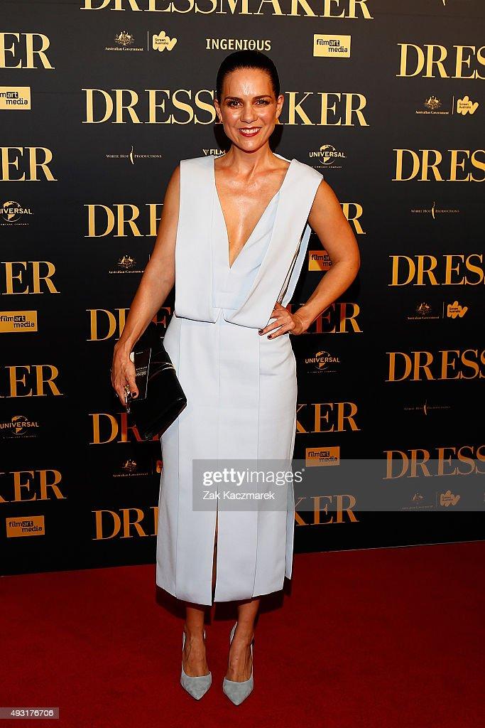 Michala Banas arrives ahead of the Australian premiere of 'The Dressmaker' on October 18, 2015 in Melbourne, Australia.