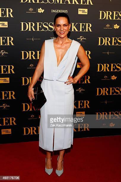 Michala Banas arrives ahead of the Australian premiere of 'The Dressmaker' on October 18 2015 in Melbourne Australia
