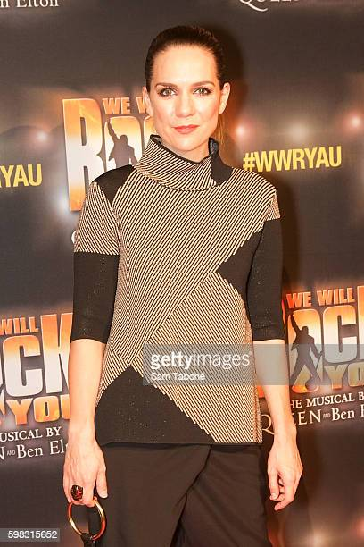 Michala Banas arrives ahead of the We Will Rock You Melbourne premiere at Regent Theatre on September 1 2016 in Melbourne Australia