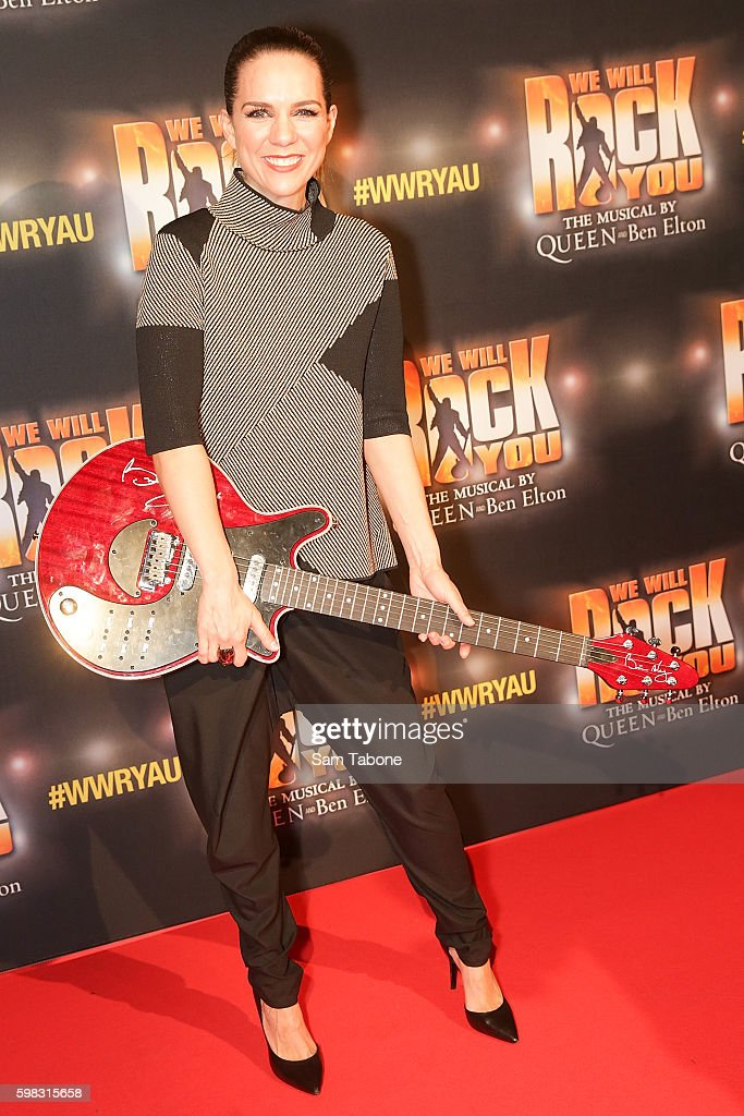 Michala Banas arrives ahead of the We Will Rock You Melbourne premiere at Regent Theatre on September 1, 2016 in Melbourne, Australia.