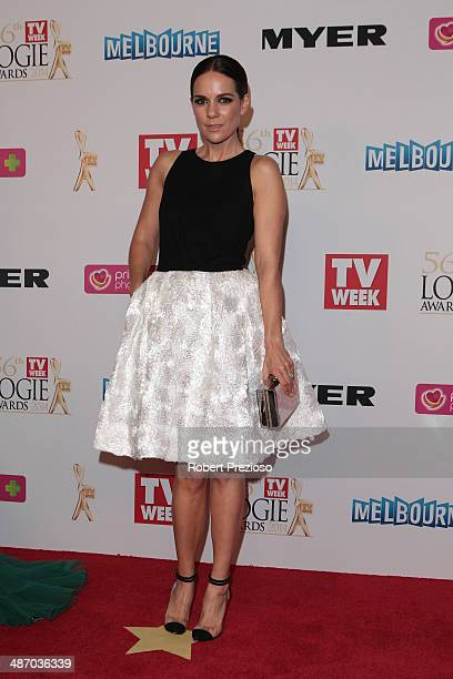 Michala Banas arrives at the 2014 Logie Awards at Crown Palladium on April 27 2014 in Melbourne Australia