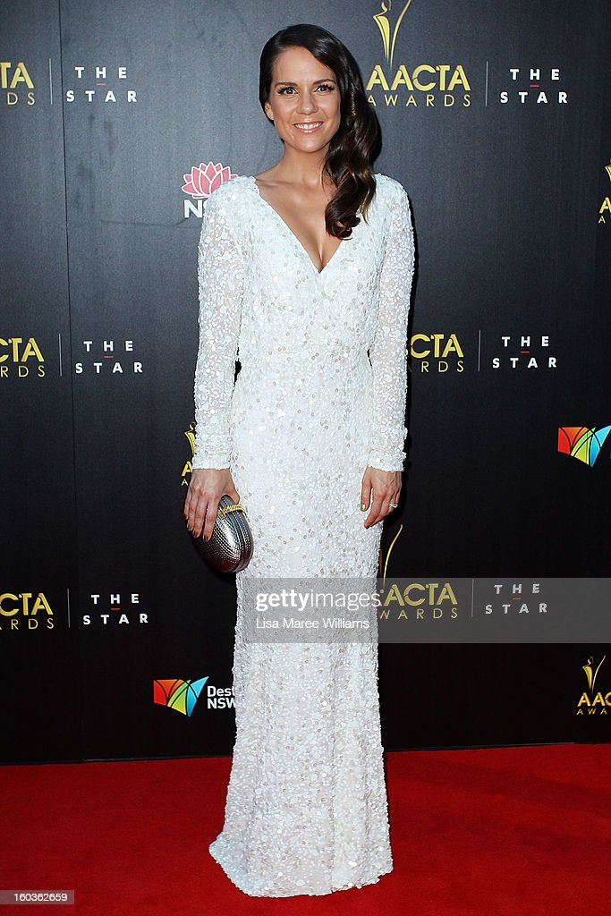 Michala Banas arrives at the 2nd Annual AACTA Awards at The Star on January 30, 2013 in Sydney, Australia.