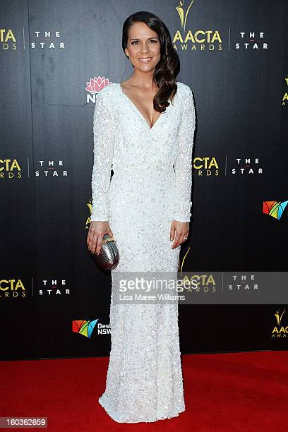 Michala Banas arrives at the 2nd Annual AACTA Awards at The Star on January 30 2013 in Sydney Australia