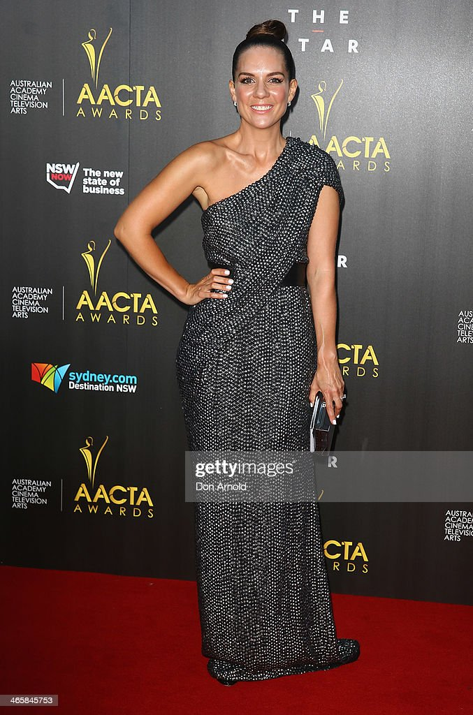 Michala Banas arrives at the 3rd Annual AACTA Awards Ceremony at The Star on January 30, 2014 in Sydney, Australia.