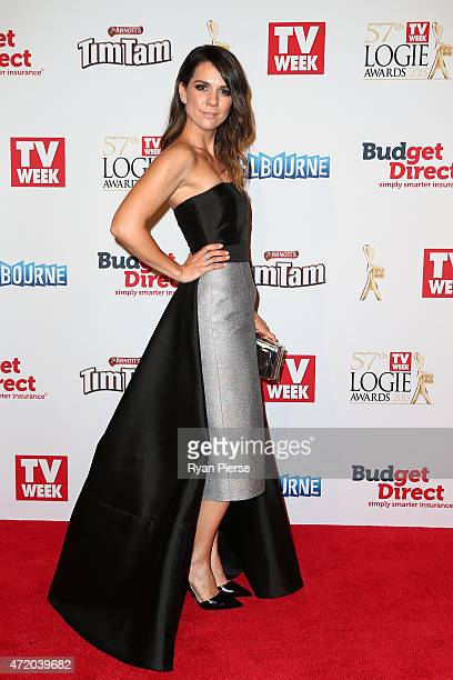 Michala Banas arrives at the 57th Annual Logie Awards at Crown Palladium on May 3 2015 in Melbourne Australia