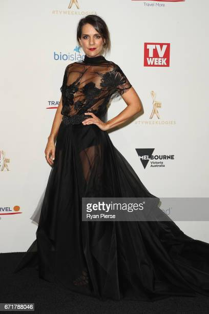 Michala Banas arrives at the 59th Annual Logie Awards at Crown Palladium on April 23 2017 in Melbourne Australia