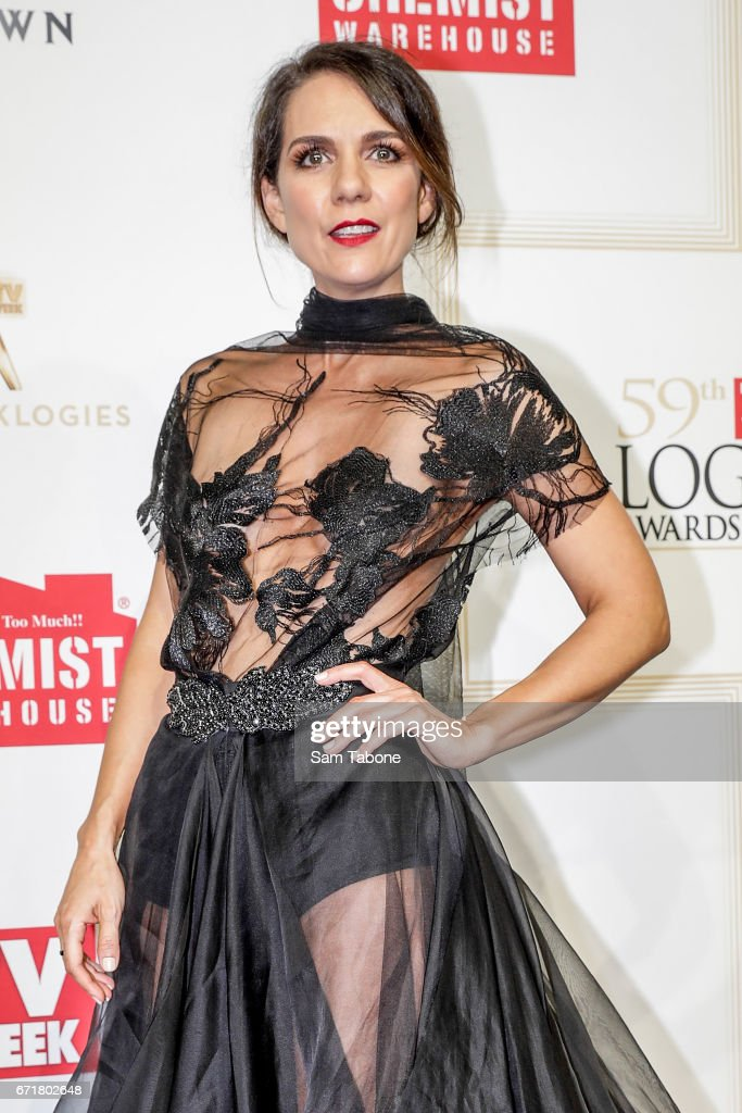 Michala Banas arrives at the 59th Annual Logie Awards at Crown Palladium on April 23, 2017 in Melbourne, Australia.