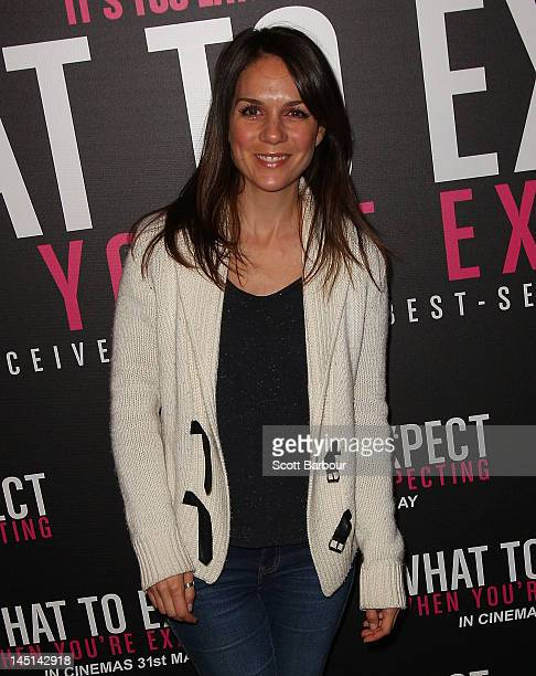 Michala Banas arrives at the 'What to Expect When You're Expecting' celebrity mum screening at The Jam Factory on May 24 2012 in Melbourne Australia