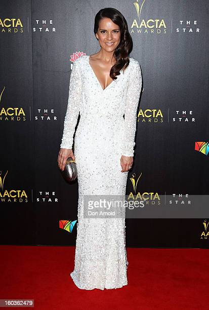 Michala Banas arrives for the 2nd Annual AACTA Awards at The Star on January 30 2013 in Sydney Australia