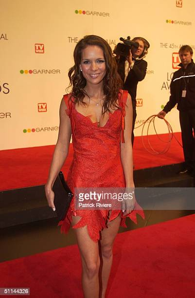 Michala Banas arriving on the red carpet for the 45th Annual TV Week Logie Awards 2003 held at the Crown Casino Melbourne Australia