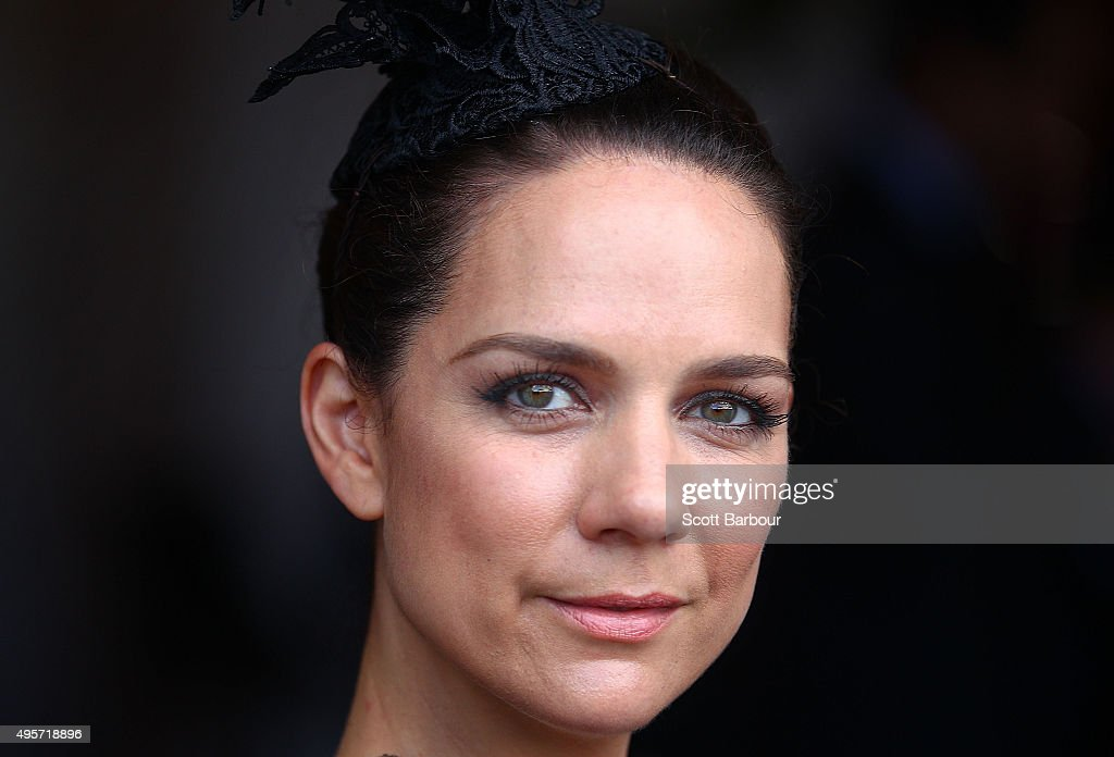 Michala Banas poses at the Emirates Marquee on Oaks Day at Flemington Racecourse on November 5, 2015 in Melbourne, Australia.