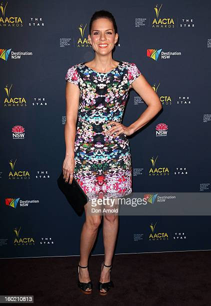 Michala Banas poses during the 2nd Annual AACTA Awards Luncheon at The Star on January 28 2013 in Sydney Australia