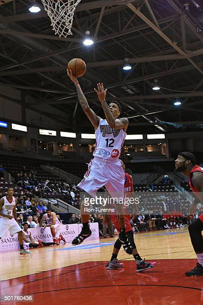 Michale Kyser of the Raptors 905 drives to the basket during a game against the Grand Rapids Drive at the Hershey Centre on December 16 2015 in...