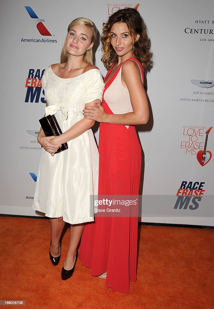 AJ Michalka and Aly Michalka arrives at the 20th Annual Race To Erase MS Gala 'Love To Erase MS' at the Hyatt Regency Century Plaza on May 3, 2013 in Century City, California.