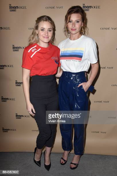 Michalka and Aly Michalka attend The Teen Vogue Summit LA Keynote Conversation with A Wrinkle In Time director Ava Duvernay and actresses Rowan...