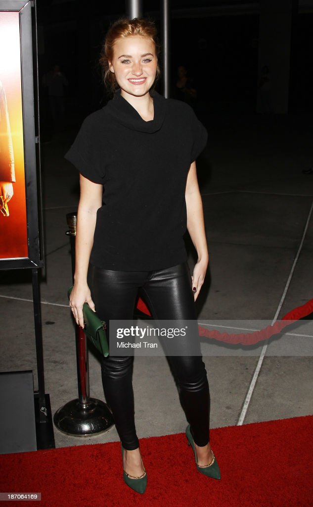 Michalka arrives at the Los Angeles premiere of 'How I Live Now' held at ArcLight Hollywood on November 5 2013 in Hollywood California