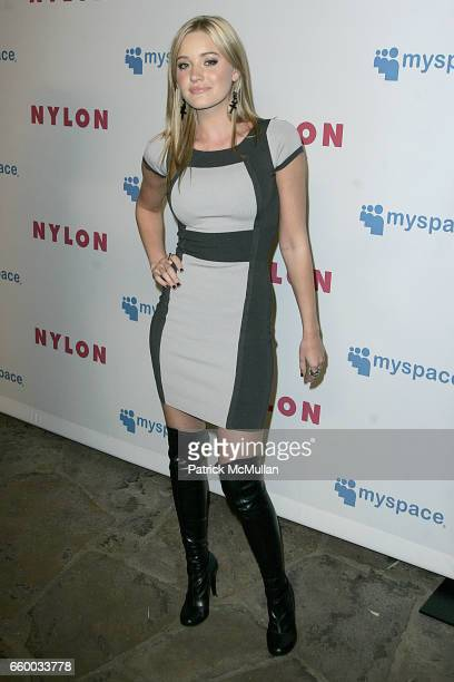 Michalka attends NYLON and MYSPACE May Young Hollywood Issue Party Hosted by Kat Dennings and Olivia Thirlby at Roosevelt Hotel on May 4 2009 in...