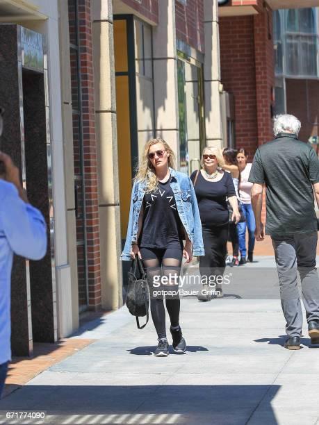 Michalka is seen on April 22 2017 in Los Angeles California