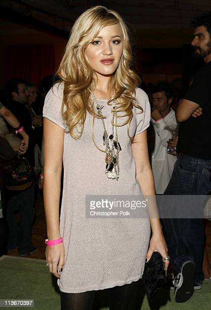 AJ Michalka of Aly AJ during TMobile Sidekick iD Launch Inside at TMobile Sidekick Lot in Hollywood California United States