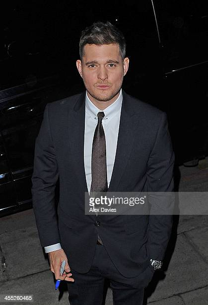 Micheal Buble seen leaving ITV studios after filming the 'Alan Carr' show on December 11 2013 in London England