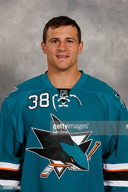 Micheal Haley of the San Jose Sharks poses for his official headshot for the 201415 season on September 18 2014 at Sharks Ice in San Jose California