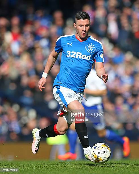 Micheal OâHalloran of Rangers during the Petrofac Training Cup Final between Rangers and Peterhead at Hampden Park on April 10 2016 in Glasgow...