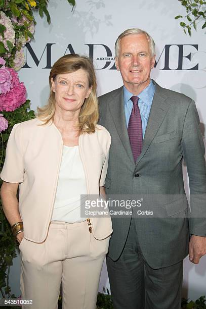 Michel Barnier and his wife Isabelle attend the 'Air France Madame' 30th Anniversary at Le Ritz Hotel on June 28 2016 in Paris France