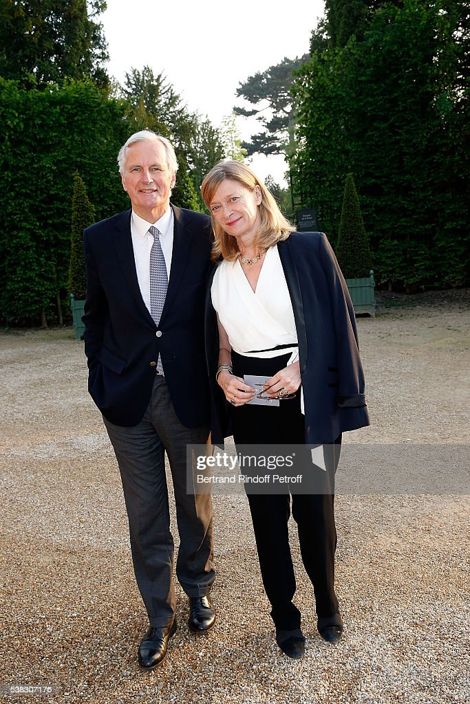 <a gi-track='captionPersonalityLinkClicked' href=/galleries/search?phrase=Michel+Barnier&family=editorial&specificpeople=220639 ng-click='$event.stopPropagation()'>Michel Barnier</a> and his wife Isabelle attend the inauguration of Olafur Eliasson Exhibition at Chateau de Versailles on June 5, 2016 in Versailles, France.