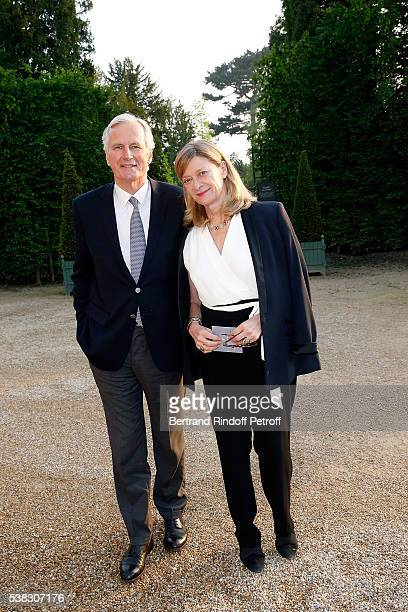 Michel Barnier and his wife Isabelle attend the inauguration of Olafur Eliasson Exhibition at Chateau de Versailles on June 5 2016 in Versailles...