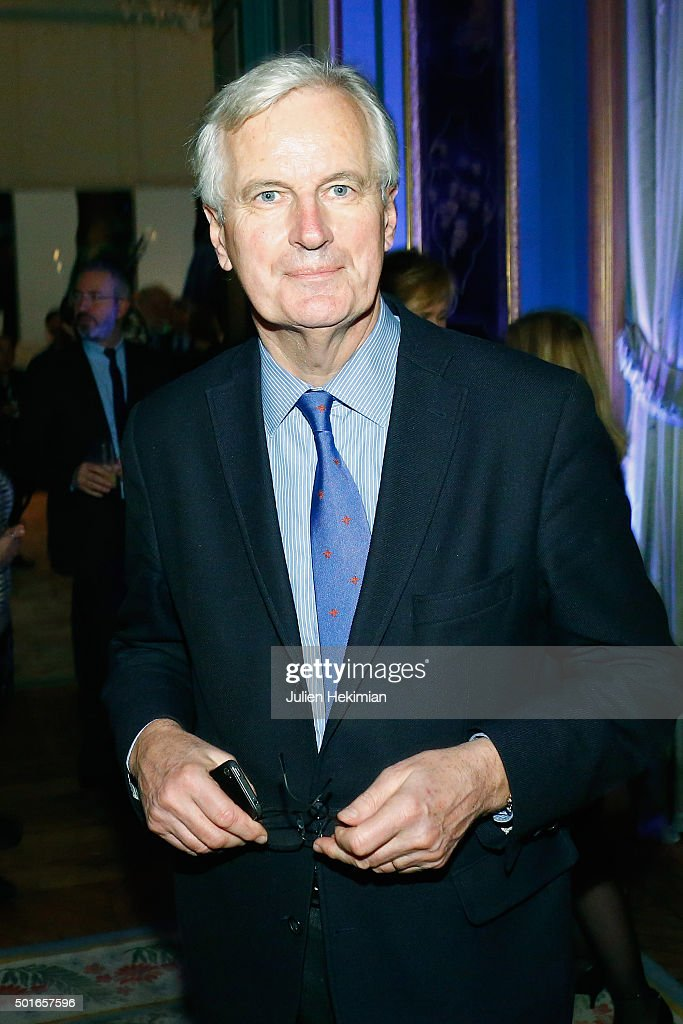 <a gi-track='captionPersonalityLinkClicked' href=/galleries/search?phrase=Michel+Barnier&family=editorial&specificpeople=220639 ng-click='$event.stopPropagation()'>Michel Barnier</a> attends the annual dinner hosted by US Ambassador Jane Hartley on December 16, 2015 in Paris, France.