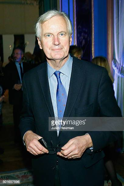 Michel Barnier attends the annual dinner hosted by US Ambassador Jane Hartley on December 16 2015 in Paris France