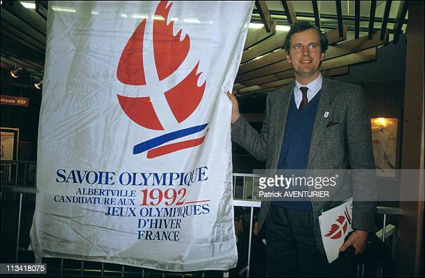 Michel Barnier For The Savoy JO 92 On January 6th 1986 In France