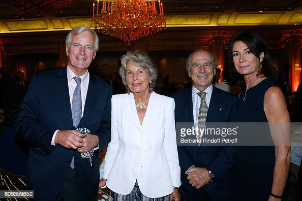 Michel Barnier Krystyna Dwernicka Ambassador of Spain in France Ramon de Miguel Egea and Miss Thierry Breton attend the Charity Dinner to Benefit...