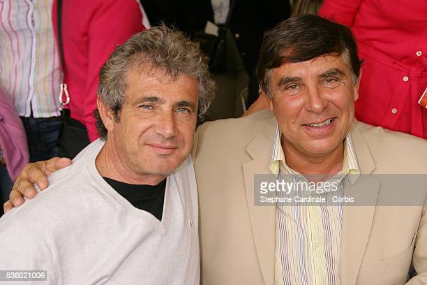Michel Boujenah and Jean Pierre Foucault at Roland Garros Village