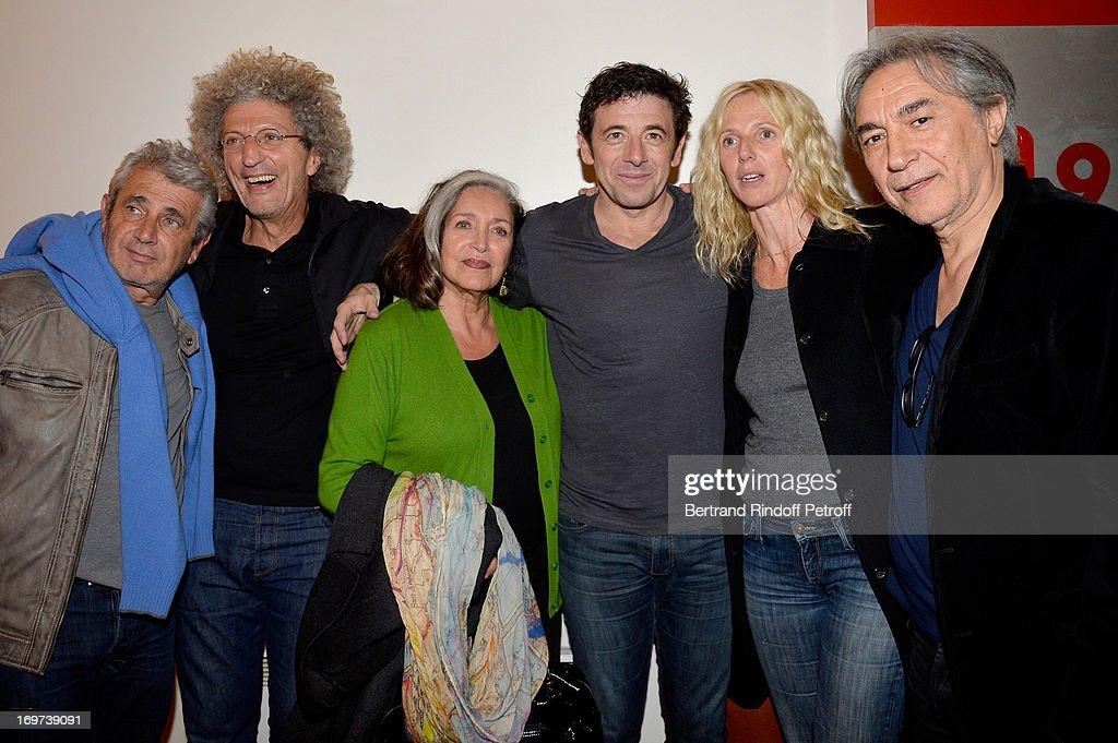 Celebrities At Patrick Bruel's Concert In Paris