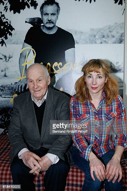 Michel Bouquet and Julie Depardieu attend the Brassens Behind the Scenes and Press Junket on October 17 2016 in Paris France