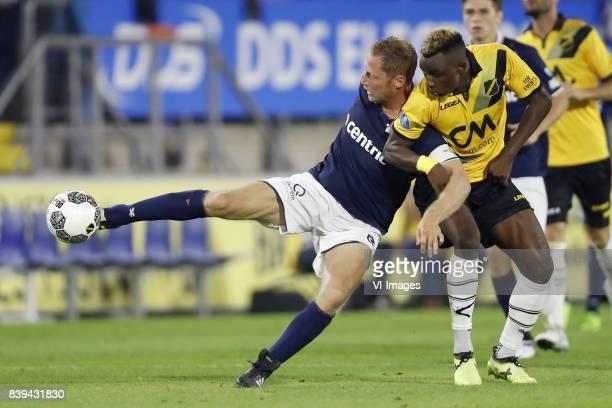 Michel Breuer of Sparta Rotterdam Thierry Ambrose of NAC Breda during the Dutch Eredivisie match between NAC Breda and Sparta Rotterdam at the Rat...