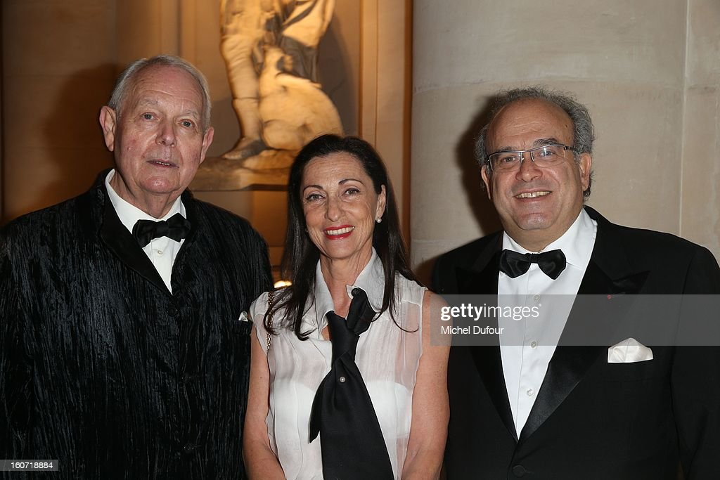 Michel Cavendish, David Khayat and his wife attend the David Khayat Association 'AVEC' Gala Dinner at Chateau de Versailles on February 4, 2013 in Versailles, France.