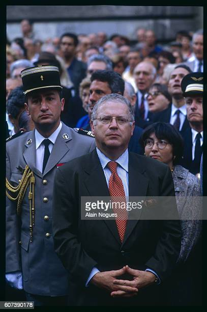Michel Charasse at the anniversary remembrance of the raid on Paris from July 1617 1942 during which 13152 Jews were deported to German death camps...