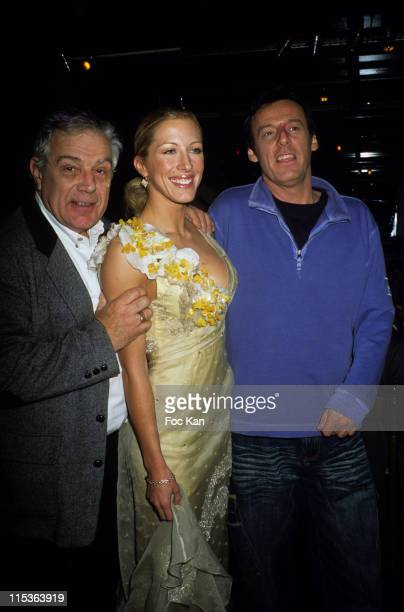 Michel Chevalet Loana and Jean Luc Reichman during Yes Brazil Show Premiere Dinner Party at Brazil Tropical Restaurant Club in Paris France